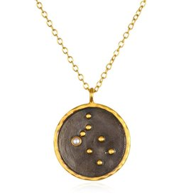 Gold & Rhodium Gemini Zodiac Necklace