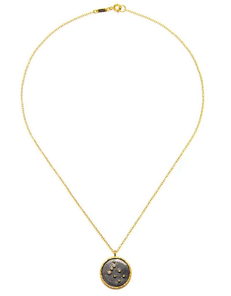 Gold & Rhodium Gemini Zodiac Necklace