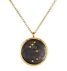 Gold & Rhodium Taurus Zodiac Necklace