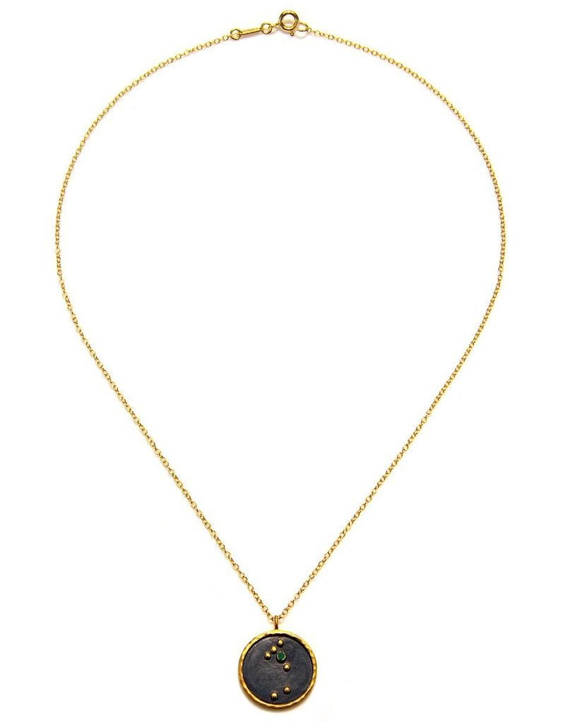 Gold & Rhodium Taurus Zodiac Necklace