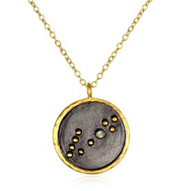 Gold & Rhodium Pisces Zodiac Necklace