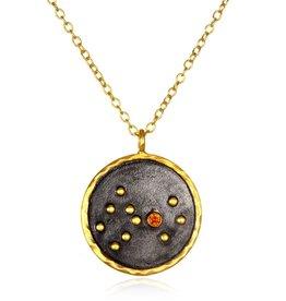 Gold & Rhodium Scorpio Zodiac Necklace