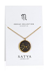 Gold & Rhodium Scorpio Zodiac Necklace