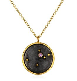 Gold  & Rhodium Aquarius Zodiac Necklace