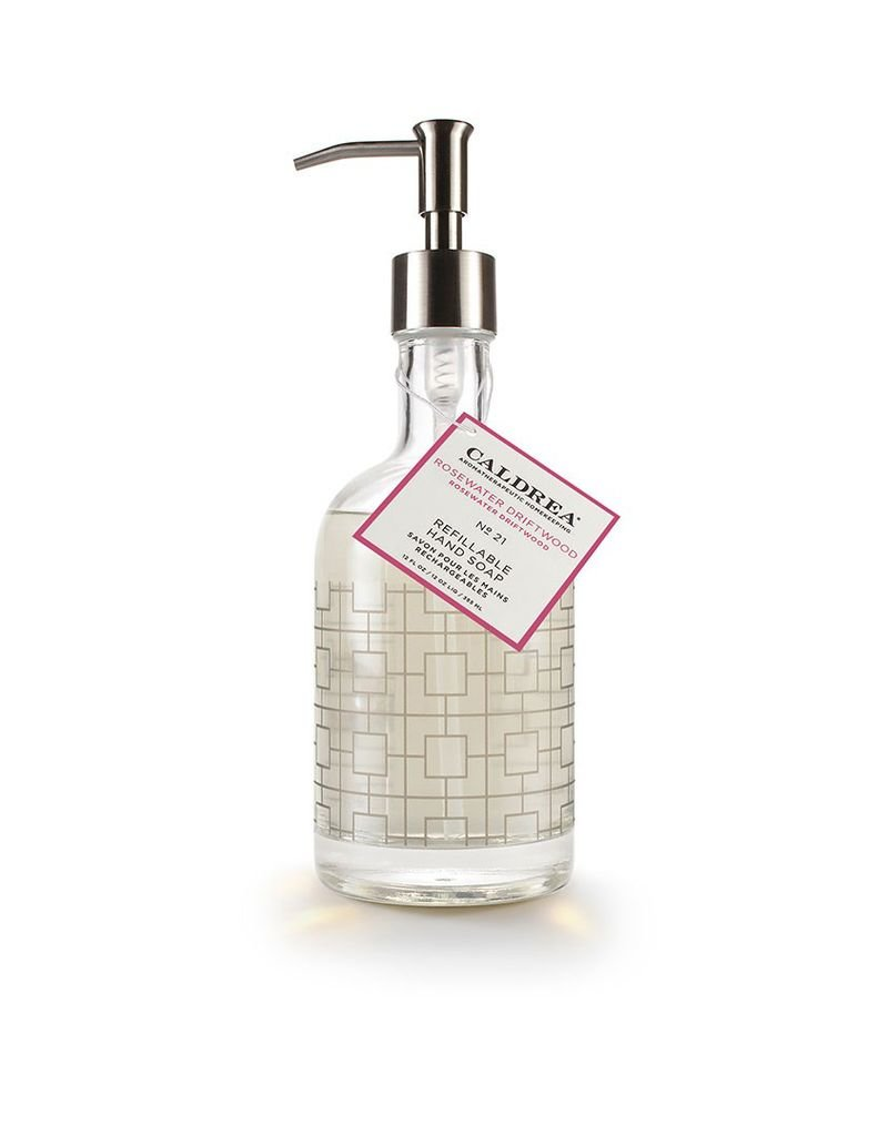 Rosewater Driftwood Glass Refillable Hand Soap
