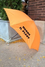 CarefulPeach Orange Umbrella with Black
