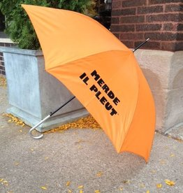 CarefulPeach Boutique Orange Umbrella with Black