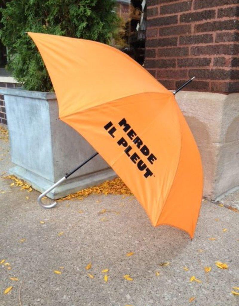 CarefulPeach Boutique Orange Umbrella with Black