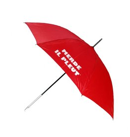 CarefulPeach Red Umbrella With Metal Handle