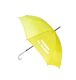 CarefulPeach Yellow Umbrella with White