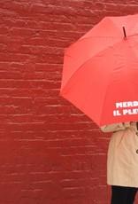 CarefulPeach Boutique Red Umbrella With Metal Handle