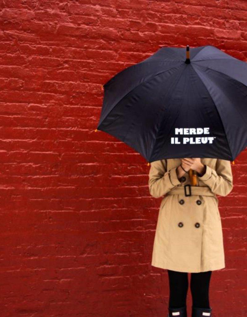 CarefulPeach Black Umbrella