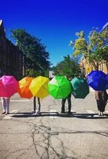CarefulPeach Lime Green Umbrella