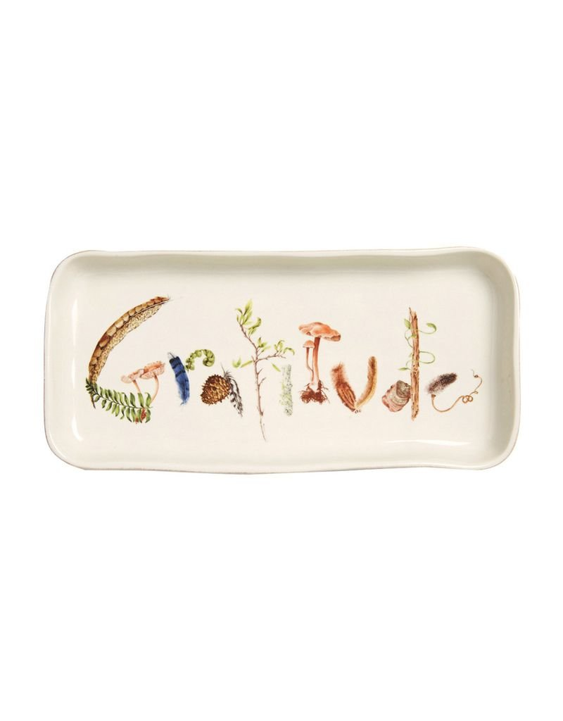 "Juliska Forest Walk Gift Tray ""Gratitude"""