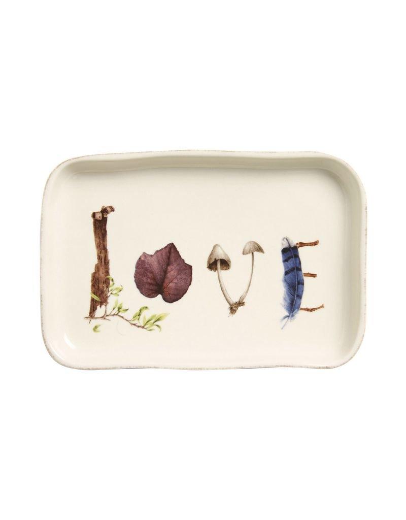 "Juliska Forest Walk Gift Tray ""Love"""