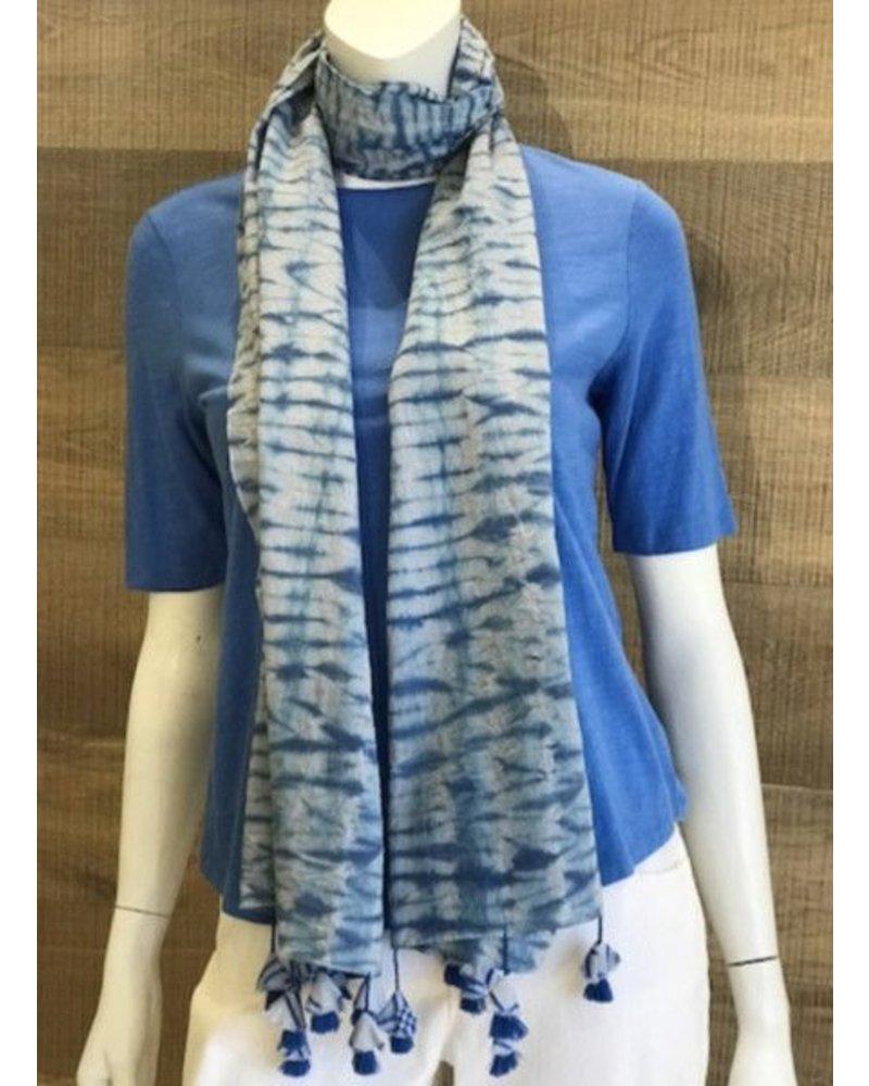 Eileen Fisher Organic Cotton Shibori Stripes Scarf