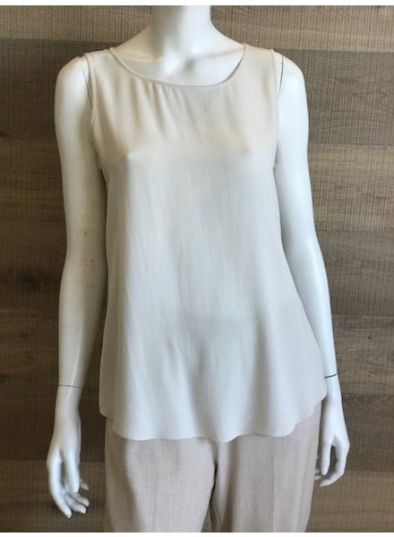 Eileen Fisher Silk Georgette Crepe Ballet Neck Tank