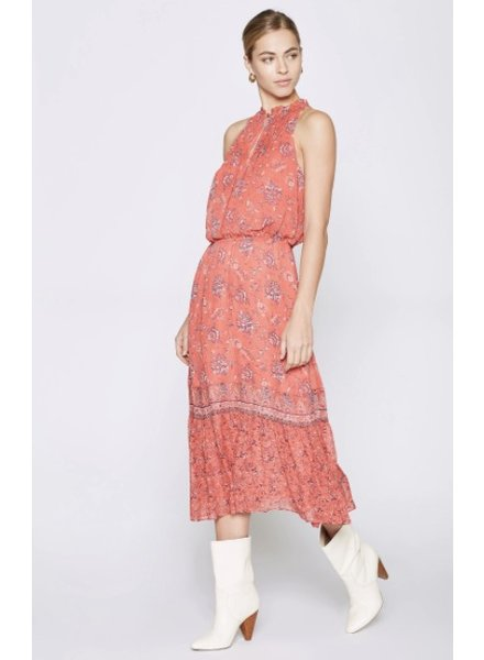 Joie Chara Cinched Waist Floral Dress
