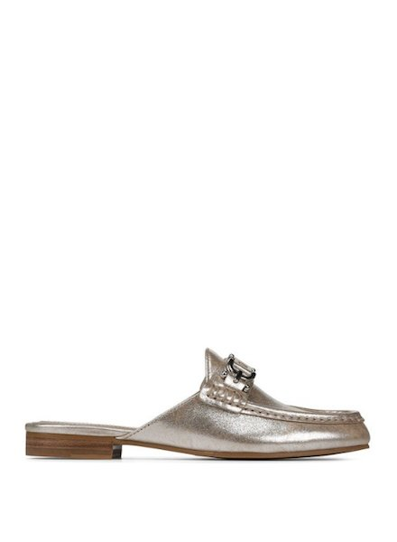 Donald Pliner Metallic Slip On Loafer