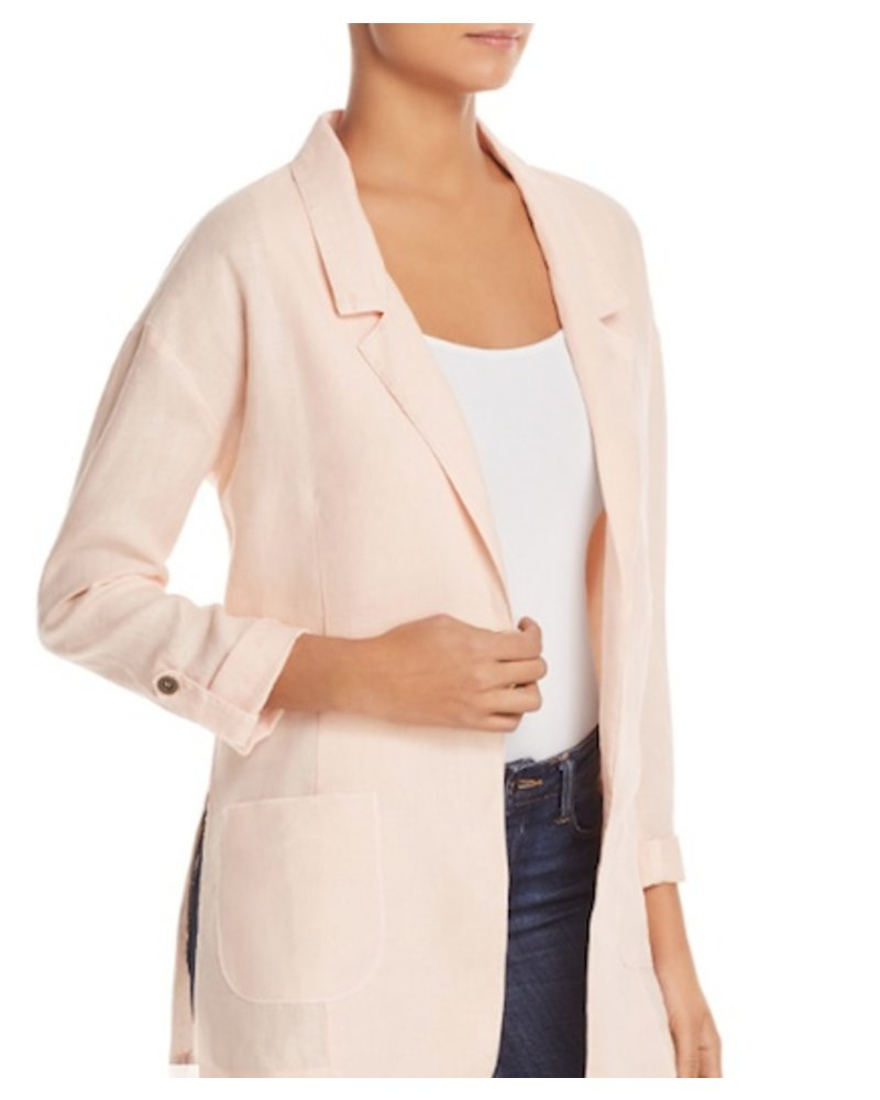 Three Dot Woven Linen Jacket