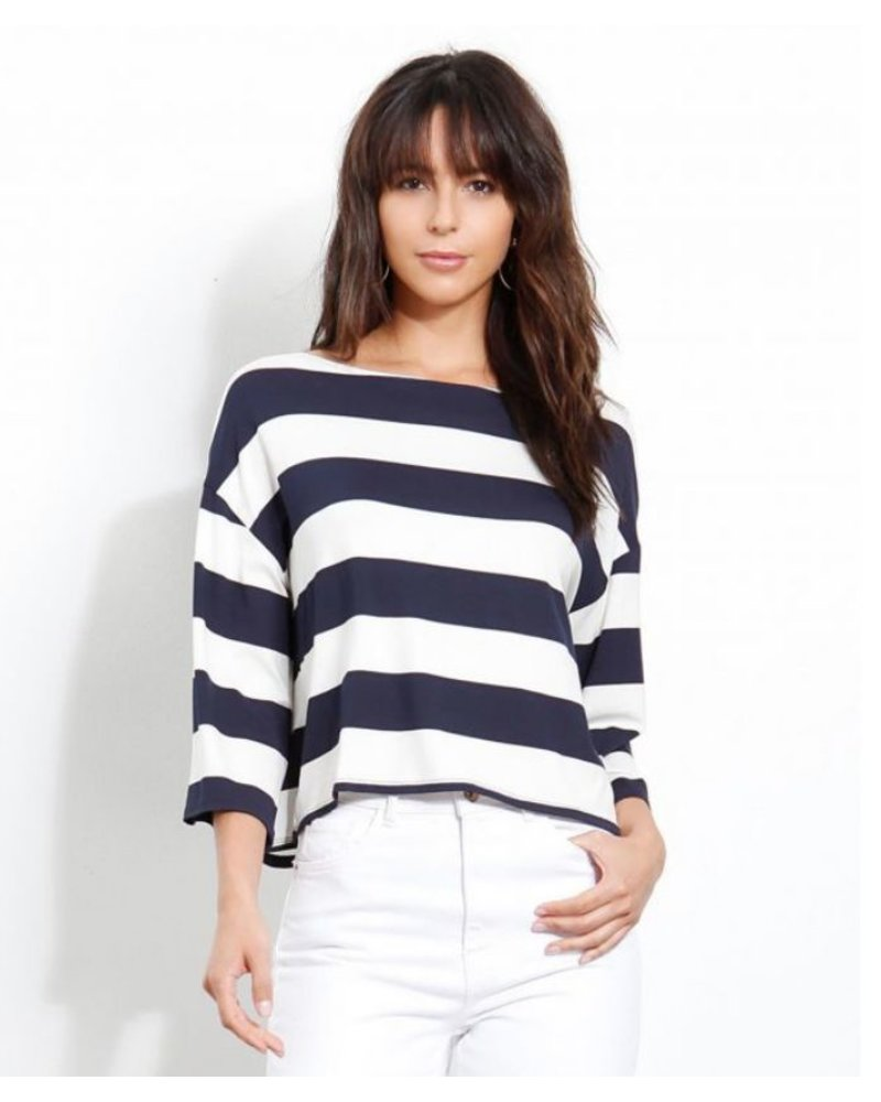 Three Dot South Hampton Stripe Top