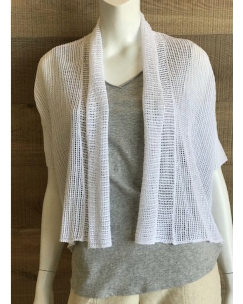 Eileen Fisher Organic Linen Knit Short Boxy Cardigan