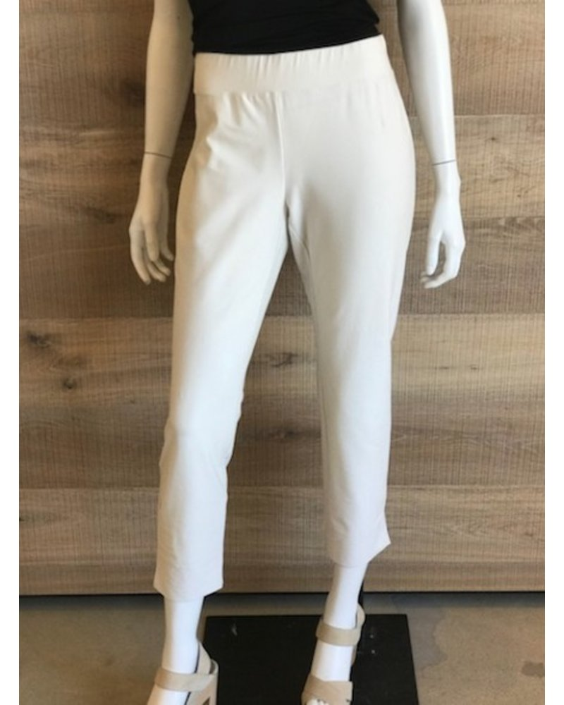 Eileen Fisher Washable Stretch Crepe Slim Cropped Pant w/ Side Slits