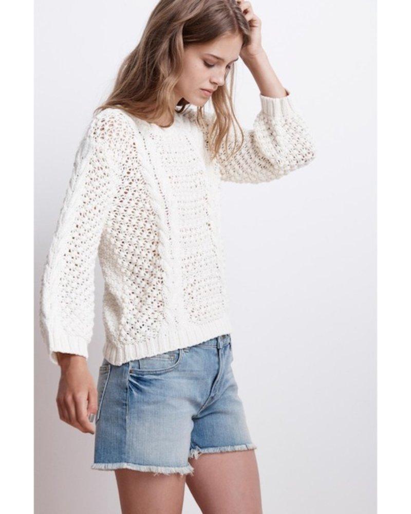 Velvet Popcorn Sweater