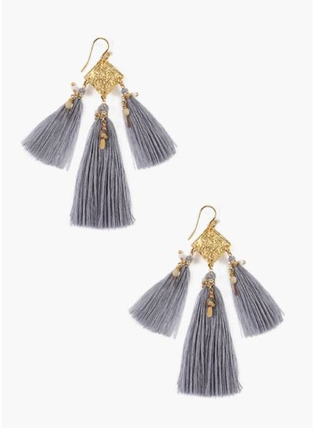 Chan Luu Earrings w/Semi Precious Stones