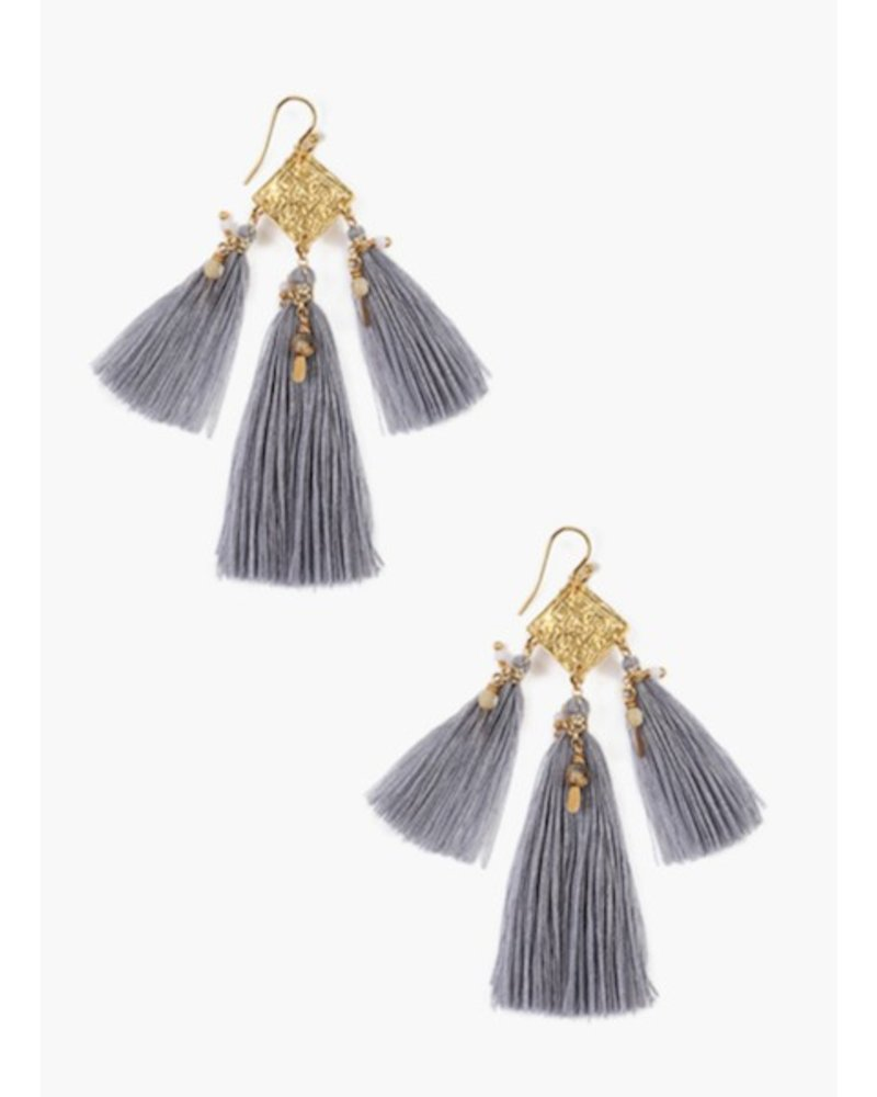 Chan Luu Earrings w/Semi Precious Stones