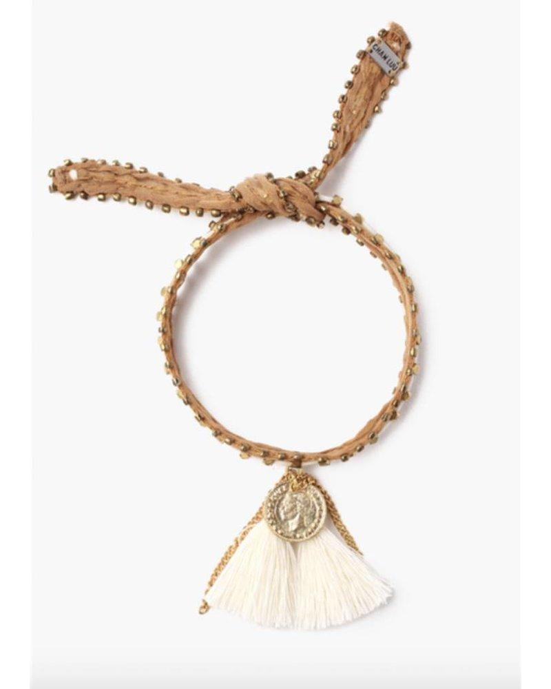 Chan Luu Nugget and Tassel Bracelet