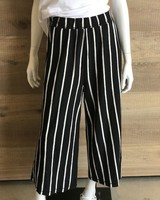 Eileen Fisher Slubby Organic Cotton Stripe Wide Pant