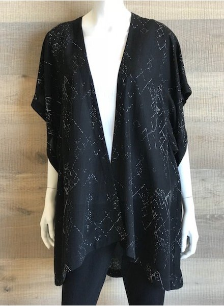 Eileen Fisher Marrakesh Printed Silk Tencel Kimono