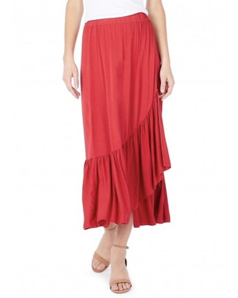Michael Stars Rylie Rayon Wrapped Midi Skirt