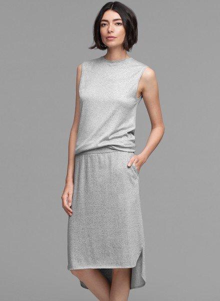Eileen Fisher Org. Ctn. Tencel Melange Jersey Skirt