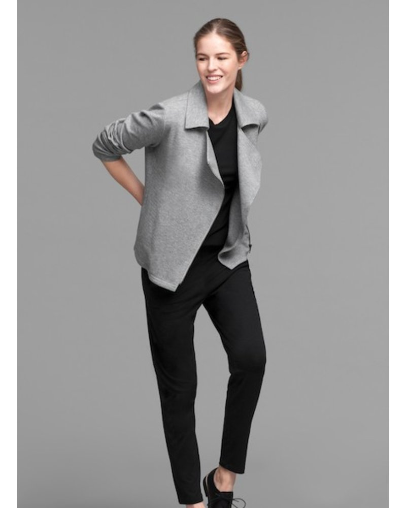 Eileen Fisher Org. Cotton Herringbone Knit Moto Jckt