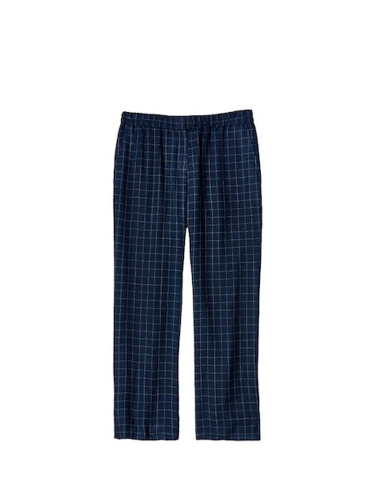 Eileen Fisher Tussah Silk Plaid Ankle Pant