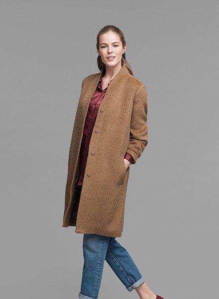 Eileen Fisher Drapey Suri Alpaca K/L Coat