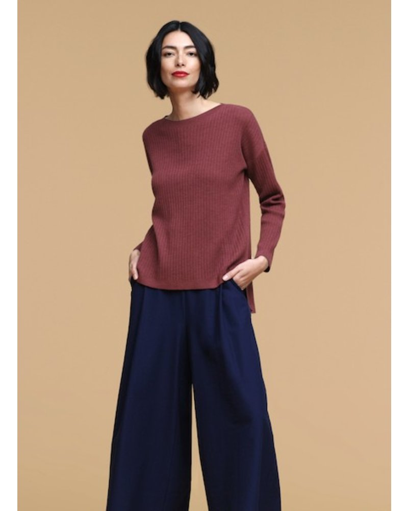 Eileen Fisher Italian Cashmere Ribbed Box Top