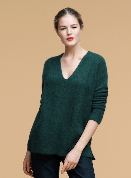 Eileen Fisher Cashmere Silk Boucle V Nk Top