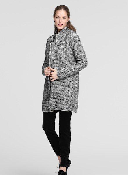 Eileen Fisher Org. Cotton Notch Collar Jacket