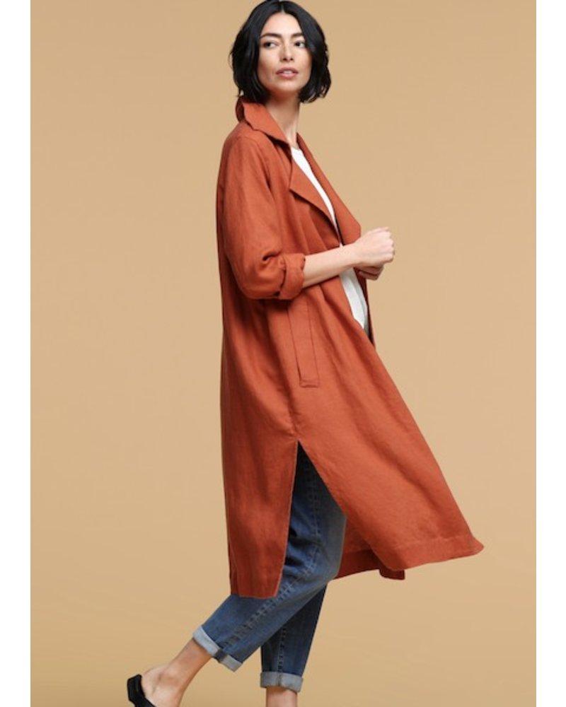 5ac433965a5 Heavy Organic Linen Trench Coat - Walla Walla Clothing Company