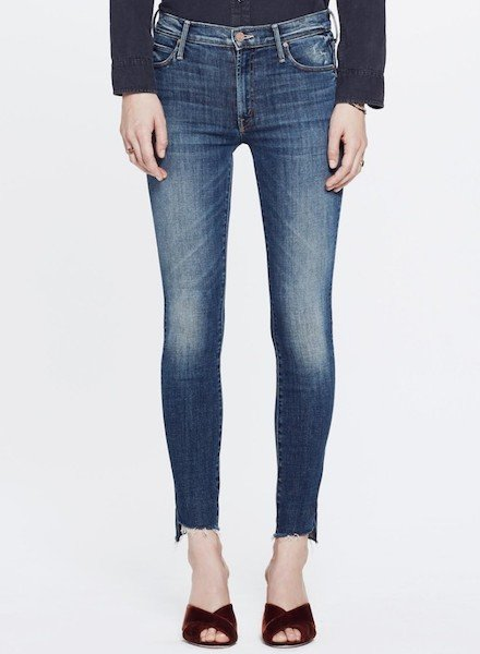 Mother Denim Looker Ankle Step Fray