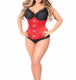 Daisy Corsets Top Drawer Red Steel Boned Underbust Corset w/Clasp Closure
