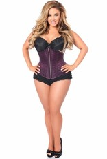 Daisy Corsets Top Drawer Plum Brocade Steel Boned Underbust Corset