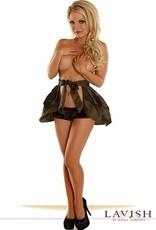 Daisy Corsets Daisy Camouflage Rufffle Skirt