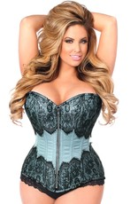 Daisy Corsets Premium Brocade Fabric Trimmed With Eyelash Lace