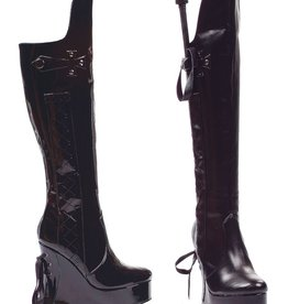 Ellie Shoes Ellie 475-Sadie 4.5 heel Booot with riding crop