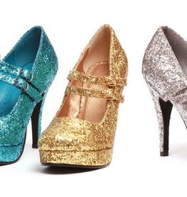 Ellie Shoes Ellie Shoes 421 Double Strapped Glitter Mary Janes silver