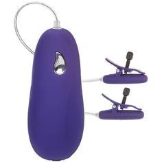 Cal Exotics Nipple Play Advanced Vibrating Heated Nipple Teasers Purple